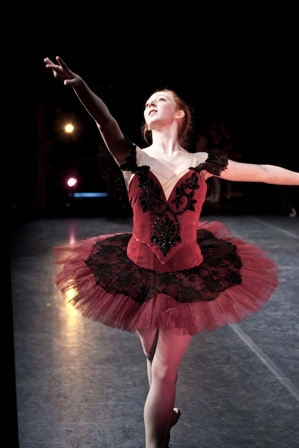 IMAGE During a production of Paquita, from the wings we glimpse a college ballerina performing. IMAGE