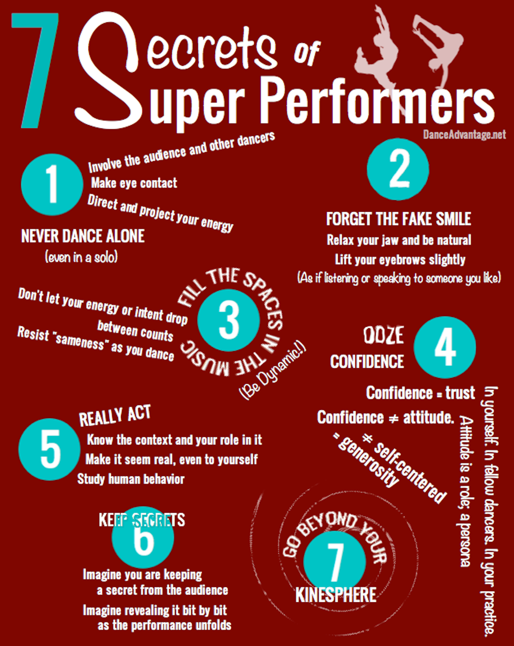 7 Secrets Of Super Performers Improving Your Performance Skills The First One Has A Diagram Showing Dance Steps At Http Www