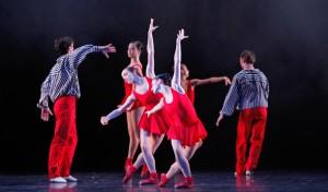 Ballet: In the Upper Room; Choreographer: Twyla Tharp; Dancer(s): Elise Judson, Emily Bowen & Artists of Houston Ballet; Photograph: Amitava Sarkar