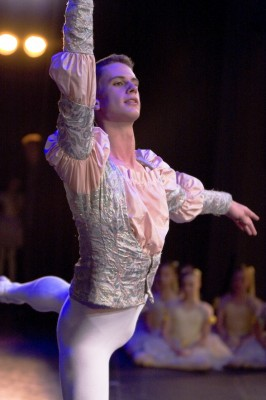 Duncan Lyle performing Coppelia, Royal Ballet School; photo: Margaret Kokrhelj