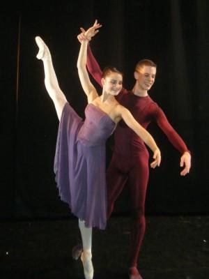 Liam Scarlett's Toccata; Royal Ballet School; Duncan Lyle with Nicole Cato