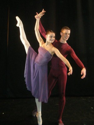 Liam Scarlett's Toccata; Royal Ballet School; Duncan Lyle with Nicole Cato