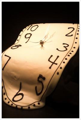 Photo of a melting clock