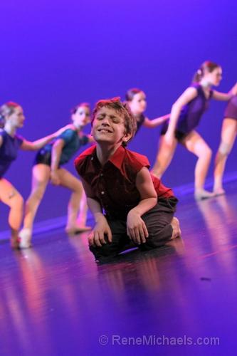 [Photo] Dancer Austin Meiteen in Dance Institute's Mr. Curiosity, photo by Rene Michaels