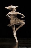 photo of dancer turning