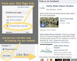 Image showing where to get the Facebook Like Box code for your website