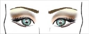 Image: Classic eye makeup pattern