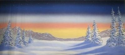 Winter landscape - Grosh Backdrops ES2224