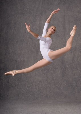 Madison Morris airborne; photo by Jim Caldwell
