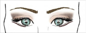 Image: V-shape eye makeup pattern