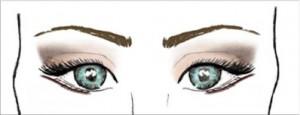 Image: V-shape eye makeup pattern