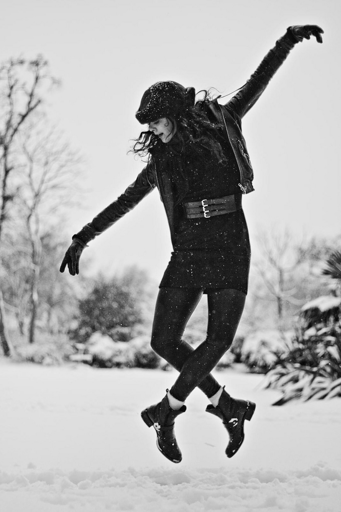 Anna-Mi Fredriksson in Queens Park; London, February 2, 2009; Photo by Ben Hopper