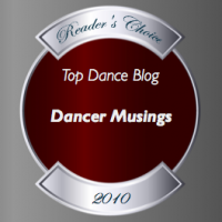 Top Dance Blog of 2010 Dancer Musings winner