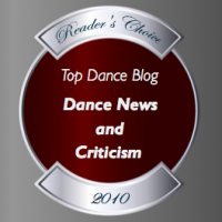 Top Dance Blog of 2010 News and Criticism Winner