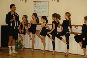 IMAGE Jacob Montoya teaches a master class at Kathy Blake Dance Studio in Massachusetts. IMAGE