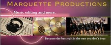 IMAGE Marquette Productions logo - Because the best edit is the one you don't hear. IMAGE