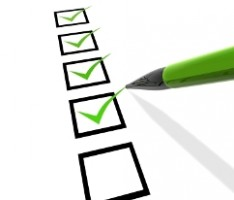 IMAGE A green pencil completes a list of checkboxes. IMAGE