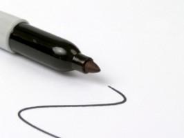 IMAGE An uncapped Sharpie marker IMAGE