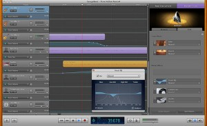 IMAGE Capture of a Squirrel Trench Audio editing session in progress. IMAGE