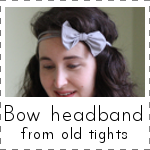 IMAGE Bow Headband from old tights IMAGE