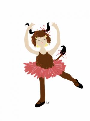 IMAGE The talented Adult Beginner's sketch of Spring Wildebeast... dancing. IMAGE