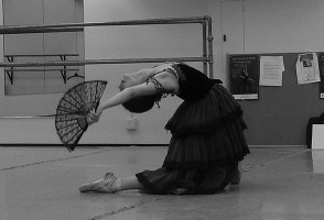 IMAGE A 2007 YAGP participant rehearses her Don Quixote variation. IMAGE