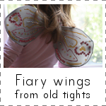 IMAGE Fairy Wings from old tights
