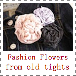 IMAGE Fashion Flowers from old tights IMAGE