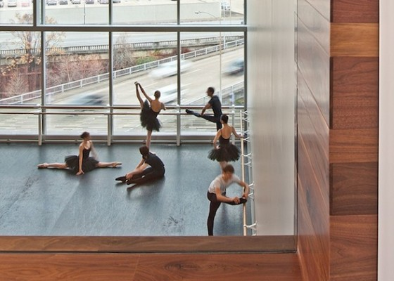 IMAGE Dancers warm up in a new studio at Houston Ballet IMAGE