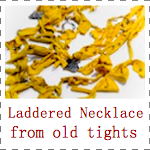 IMAGE Laddered Necklace from old tights IMAGE