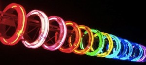 IMAGE Spectra: Neon sculpture in Bournemouth Gardens. IMAGE