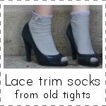 IMAGE Lace Trim Socks from old tights IMAGE