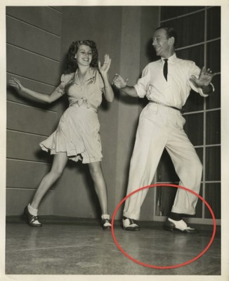 IMAGE Fred Astaire and partner in his fancy wing-tip oxfords. IMAGE
