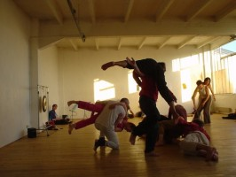 IMAGE Dancers improvise to music, making physical contact in a variety of ways. IMAGE