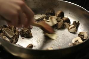 IMAGE Mushrooms sautéed in a pan IMAGE