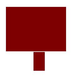 100% Money Back Guarantee - Hand Drawn Maroon