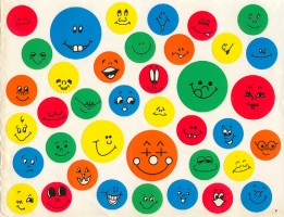 IMAGE A page of smiley stickers IMAGE