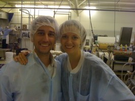 IMAGE Aaron and Julia at the factory, Belmont Confections IMAGE