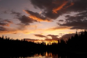 IMAGE Sunset at Eagle Lake in Colorado IMAGE