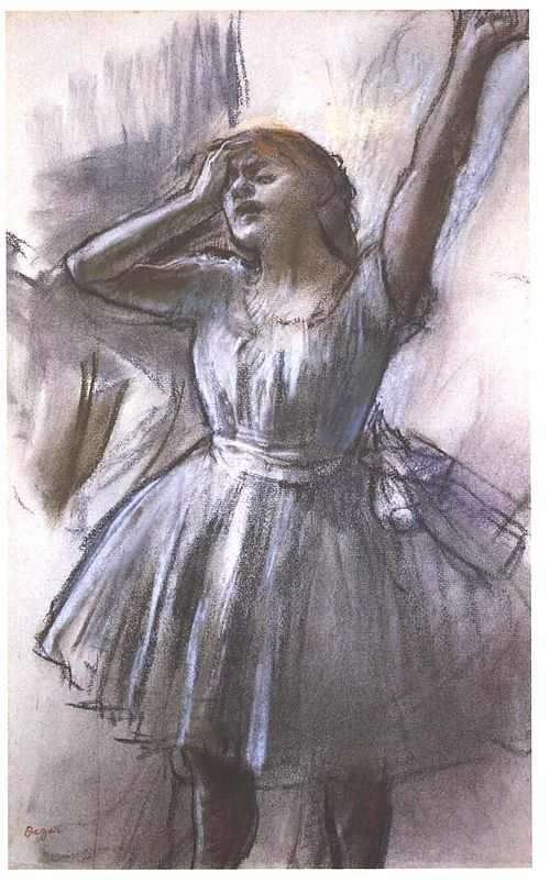 """IMAGE """"Exhausted Dancer"""" by Edgar Degas IMAGE"""