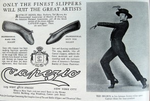 IMAGE Vintage Capezio advertisement featuring Ted Shawn IMAGE