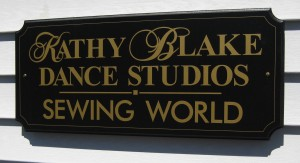 IMAGE Sign outside Kathy Blake Dance Studios costume shop. IMAGE