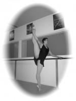 IMAGE Jean stretches at the barre. IMAGE