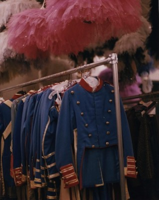 IMAGE The Nutcracker Sugar Plum Fairy tutus and Soldier costumes in wardrobe storage. IMAGE