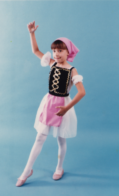 IMAGE Nichelle dressed up for her very first dance recital IMAGE