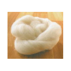 IMAGE A knot of lamb's wool for pointe shoes. IMAGE