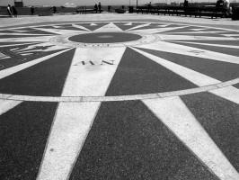 IMAGE A compass inlaid at Boston's Long Wharf waterfront IMAGE