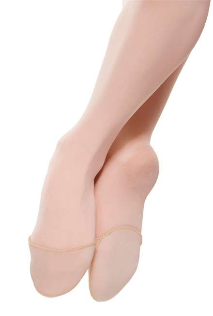 IMAGE A dancer wears toe pads on pointed feet. IMAGE