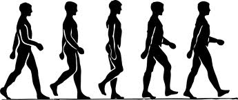 IMAGE A black and white graphic of a man walking IMAGE