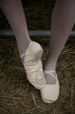 IMAGE Model is wearing Cynthia King Vegan Ballet Slippers IMAGE